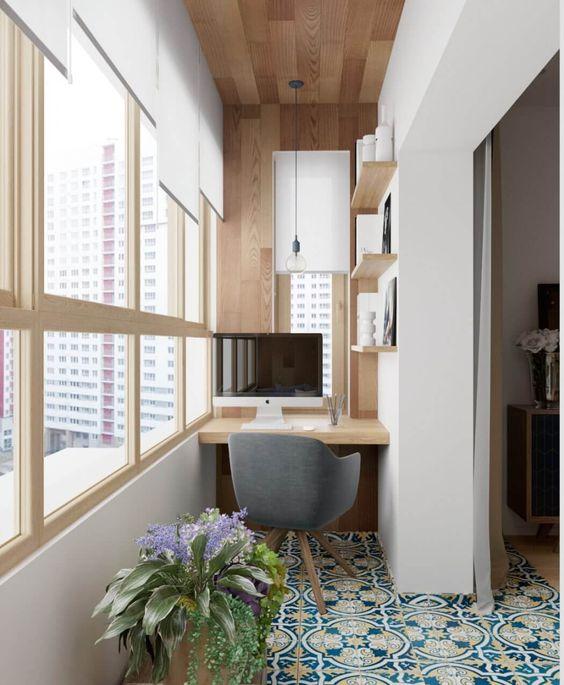 как сделать маленький балкон однушки рабочим местом фото_1