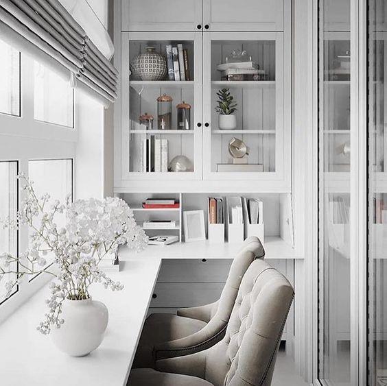 как сделать маленький балкон однушки рабочим местом фото_5