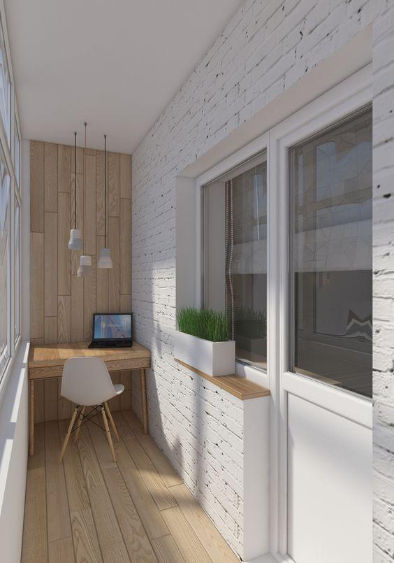как сделать маленький балкон однушки рабочим местом фото_3