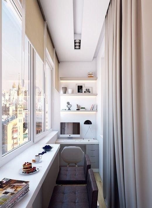 как сделать маленький балкон однушки рабочим местом фото_9